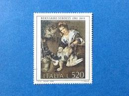 1978 ITALIA ARTE BERNARDO STROZZI 520 LIRE FRANCOBOLLO USATO ITALY STAMP USED - 6. 1946-.. Repubblica
