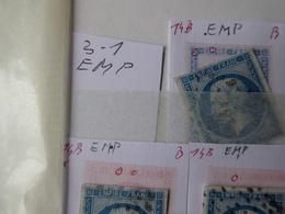 """FRANCE Planchage Du Numéro 14B.Titre Du Classeur :"""" Anomalies 14B Non Planchée Fichées Par Secteur"""" Environ 1020 Timbres - Marcophily (detached Stamps)"""