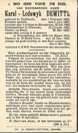 PASTOOR KAREL DEWITTE, DADIZELE1858, SINT BAAFS VIJVE 1934, MOESKROEN, DIKSMUIDE, BIZET En NOORDPEENE - Images Religieuses