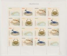 Guiné-Bissau Guinea Guinée Bissau 1996 Mi. 1229 - 1232  Crustaceans Crustacés Sheet Of 16 MNH ** - Guinée-Bissau