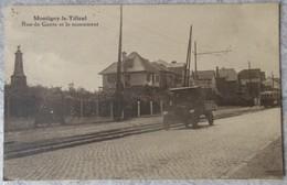 Montigny-le-Tilleul - Rue De Gozée Et Le Monument - Voiture Et Tram - Montigny-le-Tilleul