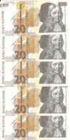 SLOVENIE 20 TOLARJEV 1992 UNC P 12 ( 5 Billets ) - Slovénie