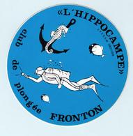 """Autocollant   FRONTON  """" L'HIPPOCAMPE """" Club De Plongée - Adesivi"""