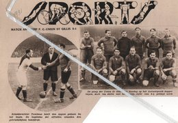 VOETBAL..1931.. MATCH ANTWERP F.C. ST GILLIS / DE PLOEG VAN UNION ST.GILLIS / SCHEIDSRECHTER TOMBEUX - Non Classés