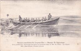 """Sauvetage D'un BALLON MARINE-KORPS 4/3/15  - CP """""""" SECOURS MARITIMES COQ-SUR-MER Barque De Sauvetage Le 24 Juillet 1903 - Globos"""