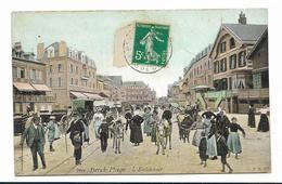 CPA BERCK PLAGE L'entonnoir Carte Colorisée Et Très Animée - Berck