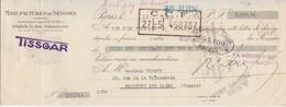 1939 / Traite Manufacture De Senones 88 Vosges / Tissgar / Paris Rue Poissonnière - 1900 – 1949