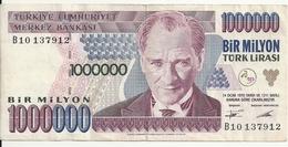 TURQUIE 1000000 LIRA 1995 VF P 209 - Turchia