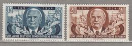 GERMANY DDR 1954 W.Pieck Flags Mi 443-444 Sc 224-225 MNH Postfrisch Neuf (**) #16050 - Neufs