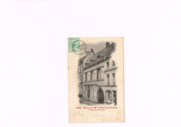 Ath Maison De Mme La Baronne Létang Façade Du XVI è Siècle Papeterie Mottrie Soeurs éditeur à Ath, Carte 1900. - Ath