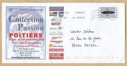 Enveloppe Entière Poitiers 36e Salon National 2020 Collection Passion 12-03-2020 Timbre Héron Crabier Lettre Verte - Marcophilie (Lettres)