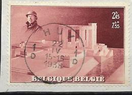 Belgique N° 465A° HUY - Statue Intérieure Du Roi Albert 1er Par Karel Aubroeck- 1938 - Belgique