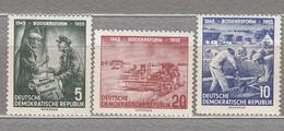 GERMANY DDR 1955 Agriculture Mi 481-483 Sc 255-257 MNH Postfrisch Neuf (**) #16060 - Neufs