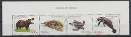 Guiné-Bissau Guinea Guinée Bissau 1997 Mi. 1249 - 1251 Fauna Mammals Menacée Block Of 4 Stamps MNH ** - Guinée-Bissau