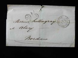 LETTRE DE LA TESTE DE BUCH  POUR BORDEAUX  -  1853  - - Marcophilie (Lettres)
