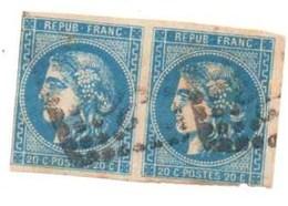 PAIRE DE CERES  N° 46B - 1870 Bordeaux Printing