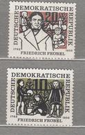 GERMANY DDR 1957 F.Froebel Educator Children Mi 564-565 Sc 328-329 MNH Postfrisch Neuf (**) #16088 - Neufs