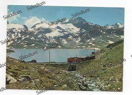 SCHWEIZ SUISSE SWITZERLAND LAGO BIANCO - POSTMAN POSTINO TRENO TRAIN  - Storia Postale - Svizzera