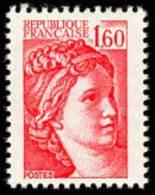 France Sabine De Gandon N° 2155 ** Marianne Le 1.60 Fr Rouge - 1977-81 Sabine Of Gandon