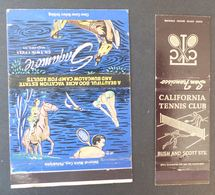 2 États Unis Matches Matchbox Tennis  Saqamore San Francisco  Etc.   #Werbe1798 - Boites D'allumettes