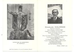 MORT DE CHARLES MAURRAS. PRIEZ POUR LUI - Documents Historiques