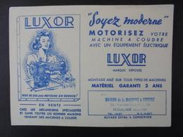 BUVARD - MACHINES A COUDRE LUXOR - Buvards, Protège-cahiers Illustrés