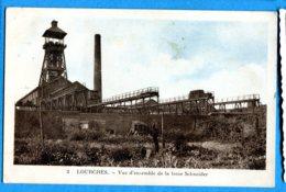 NY601, Lourches, Vue De La Fosse Schneider, Mines à Charbon,3 , Circulée 1947 Timbre Décollé - Altri Comuni