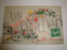 03 CPA MONTVICQ 1908 UN SOUVENIR DE MONTVICQ - France