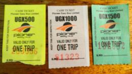 UGANDA Kampala 3x City Bus Tickets 2019 Ouganda - Bus