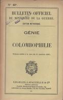 MANUEL BULLETIN OFFICIEL MINISTERE GUERRE 1937 GENIE COLOMBOPHILIE PIGEON COLOMBIER MILITAIRE - Livres