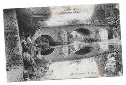 WWI 1917 LA CHATRE PONT DU LION D ARGENT - TAMPON SERVICE AUTOMOBILE ORLEANS ALFRED BOISSY POUR CLERMONT - CPA MILITAIRE - La Chatre