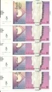 MACEDOINE 10 DENARI 2011 UNC P 14 I ( 5 Billets ) - Macedonië