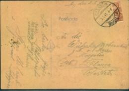 1948, Postkarte Mit Halbierter 24 Pfg. Arbeiter Unbeanstandet - Zona AAS