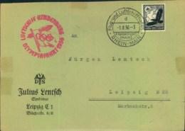 1936, Sauberer Zeppelinbrief OLYMPIAFAHRT - Summer 1936: Berlin