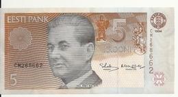 ESTONIE 5 KROONI 1994 UNC P 76 - Estland