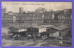 Carte Postale  49. Angers  Bords De La Maine  Quai Ligny   Très Beau Plan - Angers