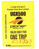 UGANDA Kampala City Bus Ticket 2019 Ouganda - Bus