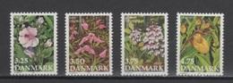 (S0504) DENMARK, 1990 (Flowers). Complete Set. Mi ## 981-984. MNH** - Nuovi