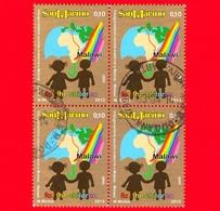 SAN MARINO - Usato - 2013 - Inaugurazione Della Scuola Materna A Matola, Malawi - 0,10 € - Bambini Stilizzati - Quartina - Saint-Marin