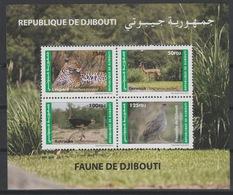 Djibouti Dschibuti 2012 Mi. Bl. 166 ** Neuf MNH Faune Fauna Leopard Panther Autruche Ostrich Strauß Bird Oiseau Gerenuk - Djibouti (1977-...)