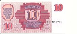 LETTONIE 10 RUBLU 1992 UNC P 38 - Lettonie