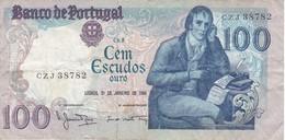 BILLETE DE PORTUGAL DE 100 ESCUDOS DEL 31 JANEIRO 1984 (BANKNOTE) - Portugal