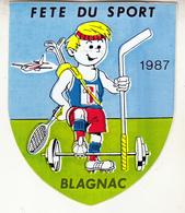 Autocollant   FETE DU SPORT  BLAGNAC  1987 - Stickers