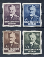 TURKEY * 1952 * Complete Set 4 Stamps * MNH** Tarhan Birth Anniversary - Mi.No 1313-1316 - 1921-... République
