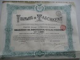 Les Tramways De Taschkent - Obligation De 500 Fr - Transports