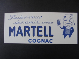 BUVARD - COGNAC MARTEL - PETIT FORMAT - Carte Assorbenti