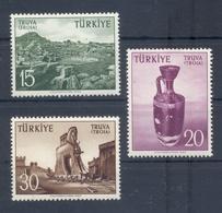 TURKEY * 1956 * Complete Set 3 Stamps * MNH** Troje - Mi.No 1512-1514 - 1921-... République