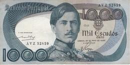 BILLETE DE PORTUGAL DE 1000 ESCUDOS  DEL AÑO 1968 SERIE AVZ (BANKNOTE-BANK NOTE) - Portugal