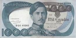 BILLETE DE PORTUGAL DE 1000 ESCUDOS  DEL AÑO 1968 SERIE BQG CALIDAD EBC (XF) (BANKNOTE-BANK NOTE) - Portugal