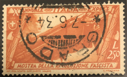 ITALY KINGDOM ITALIA REGNO 1932 - 2,50 L. ESPRESSO (Sass. Esp. 18) USATO OFFERTA - 1900-44 Victor Emmanuel III